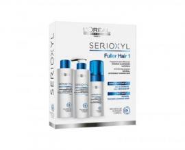 Loreal Professionnel - Sada pro přírodní řídnoucí vlasy Serioxyl 1 (Fuller Hair For Natural Noticeably Thinning Hair)