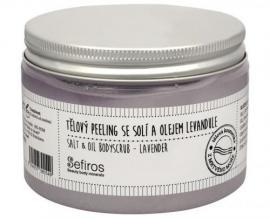 Sefiros - Tělový peeling se solí a olejem Levandule (Salt & Oil Bodyscrub) 300 ml