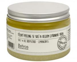 Sefiros - Tělový peeling se solí a olejem Citronová tráva (Salt & Oil Bodyscrub) 300 ml