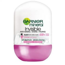 Garnier - Deodorant antiperspirant roll-on pro úplnou neviditelnost na oblečení Invisi Mineral 50 ml