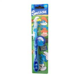 VitalCare - Zubní kartáček s krytkou Šmoulové